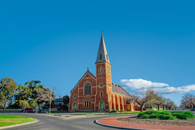 Uniting Church Laurel St - Bendigo Stock Photos