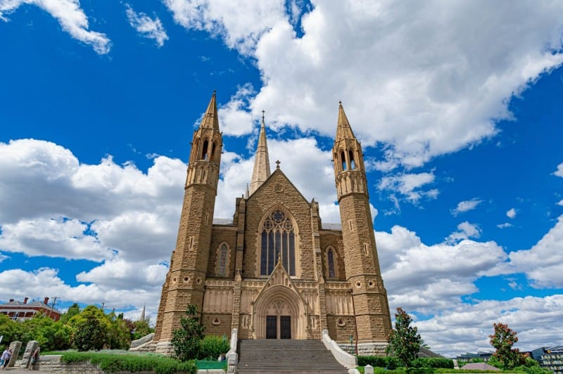 sacred heart cathedral - Bendigo Stock Photos