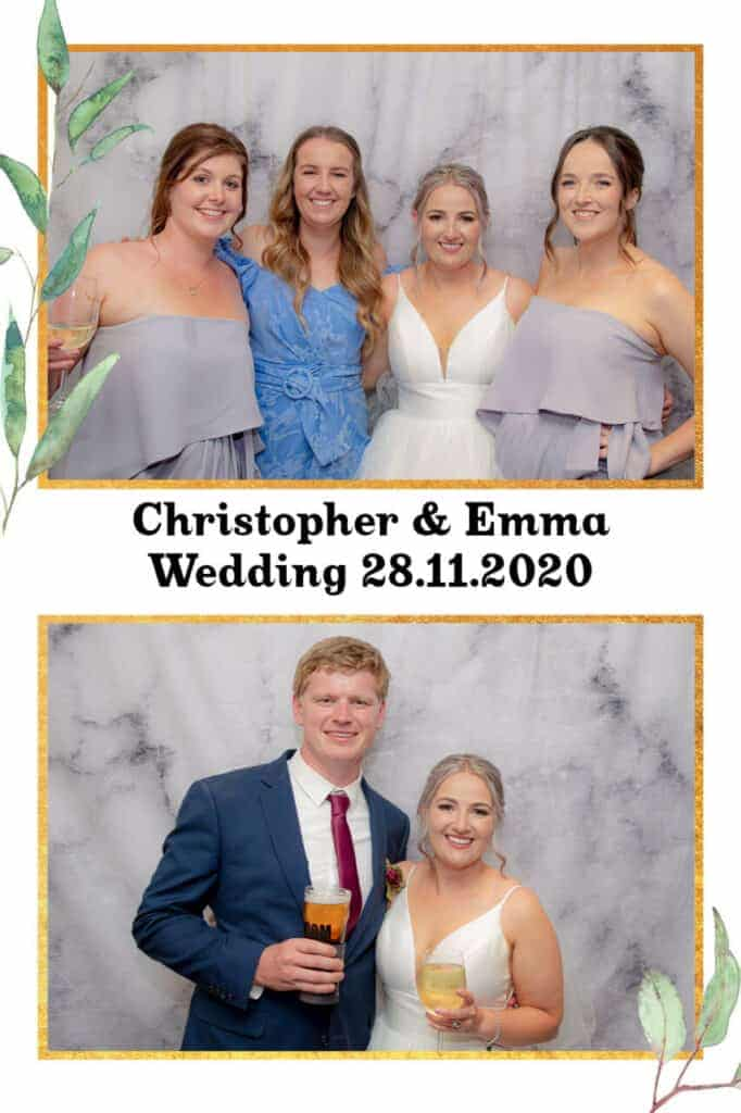bendigo photo booth with custom layout and personalized prints